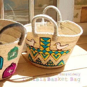 【特別送料無料!】商品カテゴリ:素朴な チュニジア刺繍 ・・・やしの葉で編まれた…