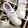 スニーカー【送料無料】23.0/27.0/28.0 異素材×定番イノマー。素材使いでみせる、2色展開。 レディース メンズ 婦人靴 歩きやすい 痛くない シューズ ローカット スニーカー シューズ 靴 カジュアル アドミラル SJAD1522 ◆Admiral(アドミラル)INOMER F