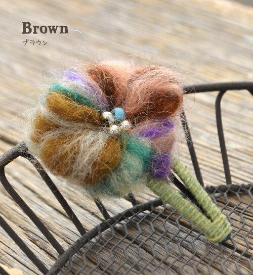 五颜六色的花发夹 / 软毛,作母题帕钦发夹.