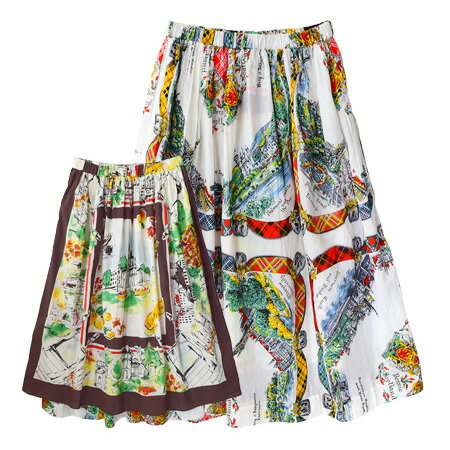 マルチテキスタイル リバーシブル ロングスカート(商品画像)