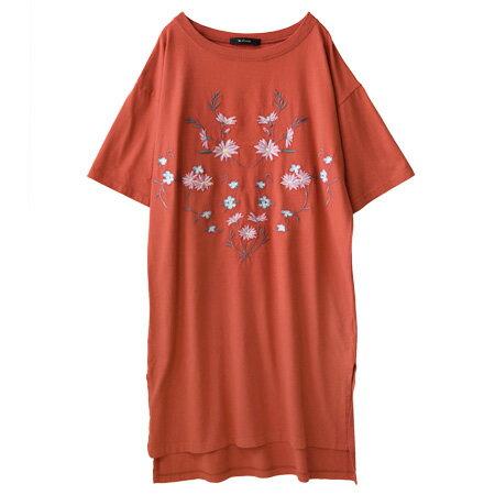 フラワー刺繍 ロングプルオーバー(商品画像)