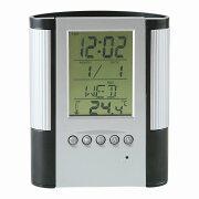 「多機能時計」マルチクロック付ペンスタンドD2116(時計付ペンスタンド)