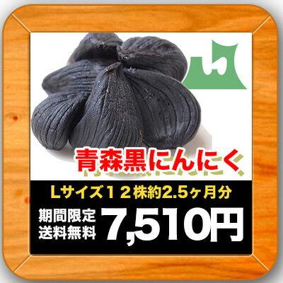 青森県産 黒にんにくLサイズ12株