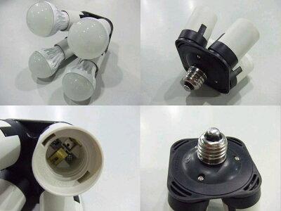 【LED電球専用】 4分岐ソケットアダプタ ZS-4LED