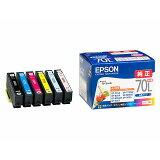 EPSON エプソンインクカートリッジ IC6CL70L 6色パック 増量タイプ IC6CL70L(2303975)代引不可 通常送料1万円未満