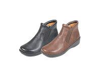 サイドゴアのショートブーツ|No.10725◆健康靴/健康シューズなのにオシャレな靴/楽な靴