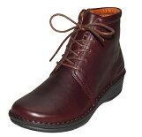 紐、ファスナー付のショートブーツ No.10723◆健康靴/健康シューズなのにオシャレな靴/楽な靴