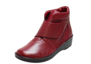 【鹿革】大きな面ファスナーでしっかり固定! (婦人靴)|No.78718(ディアダークブラウン、ディアワイン)おしゃれ 本革 歩きやすい カジュアル 健康靴 疲れにくい お出掛け 外反母趾 日本製 足ツボ 手縫い ブーツ 敬老の日 誕生日