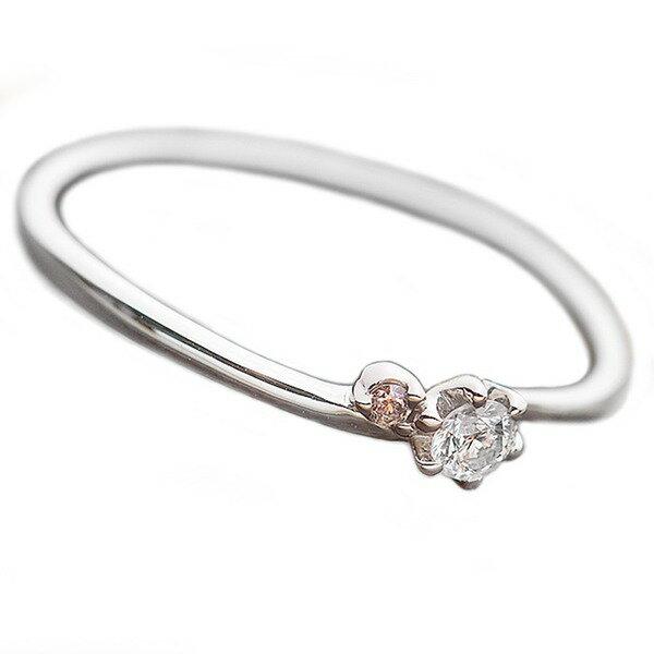 ダイヤモンド リング ダイヤ ピンクダイヤ 合計0.06ct 11号 プラチナ Pt950 指輪 ダイヤリング 鑑別カード付き ファッション リング・指輪 天然石 ダイヤモンド レビュー投稿で次回使える2000円クーポン全員にプレゼント