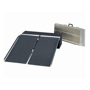 直送イーストアイポータブルスロープアルミ2折式タイプ(PVSシリーズ)/PVS120長さ122cmダイエット・健康健康器具介護用品