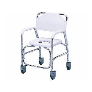 直送日進医療器アルミシャワーチェア/TY535DXE樹脂製四輪ダブルストッパーダイエット・健康健康器具介護用品