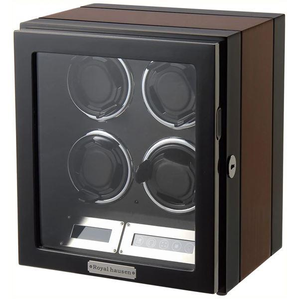 ワインディングマシーンロイヤルハウゼンワインダー4本巻き上げ液晶パネルリモコン付GC03-Q21EB生活用品・インテリア・雑
