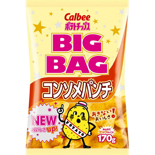 フード お菓子 スナック菓子 【ケース販売】カルビー ポテトチップス ビッグバッグ コンソメパンチ 170g×12袋
