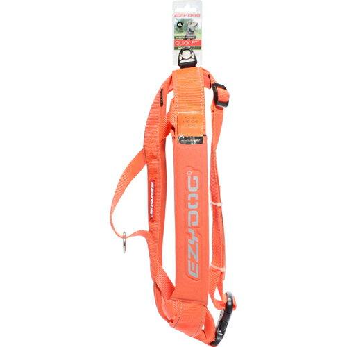 ペット用品 犬用品(グッズ) 犬用首輪・胴輪・リード イージードッグ クイックハーネス XL オレンジ
