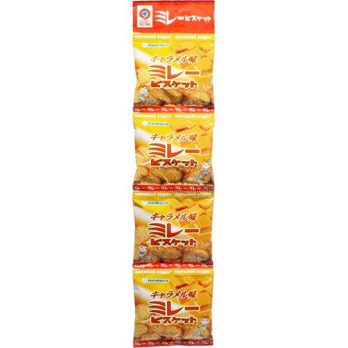 フード お菓子 焼き菓子 【ケース販売】4連ミレービスケット キャラメル味 30g×4個×10パック