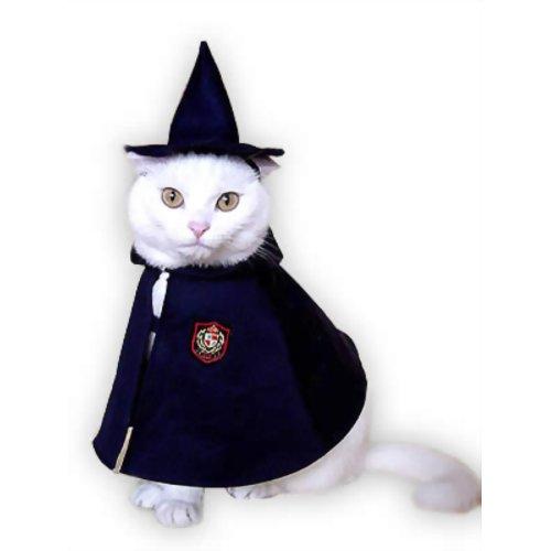 ペット用品 猫用品(グッズ) 猫用衣類・アクセサリー 三角帽&マントセット