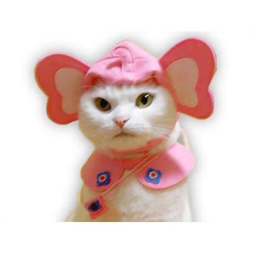 ペット用品 猫用品(グッズ) 猫用衣類・アクセサリー ぞうにゃん幼稚園へ行くセット (ピンク)
