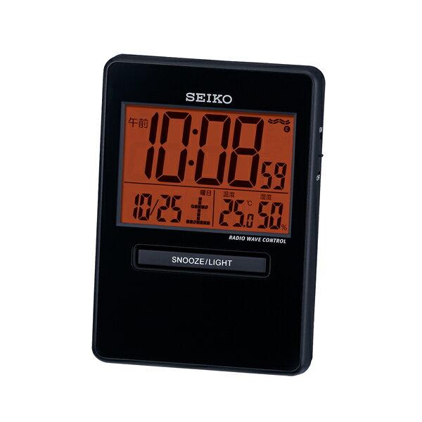 5000円以上送料無料 セイコー SEIKO トラベラ 置き時計 SQ781K ブラック 【インテリア 時計】 レビュー投稿で次回使える2000円クーポン全員にプレゼント