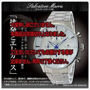 レビュー投稿で次回使える2000円クーポン全員にプレゼント直送サルバトーレマーラXBメンズクロノ腕時計SMXB-001SS-SSWHBLホワイト文字盤ステンレスベルト【在庫限り特価腕時計】