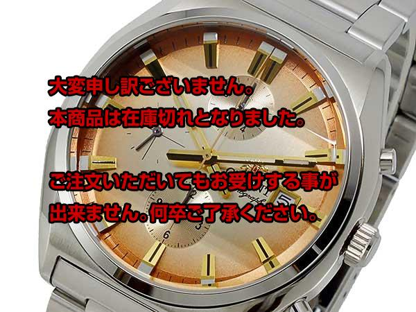 Review the next regular 2000 yen off direct Orient ORIENT quartz mens Chrono Watch WV0411TT Japan