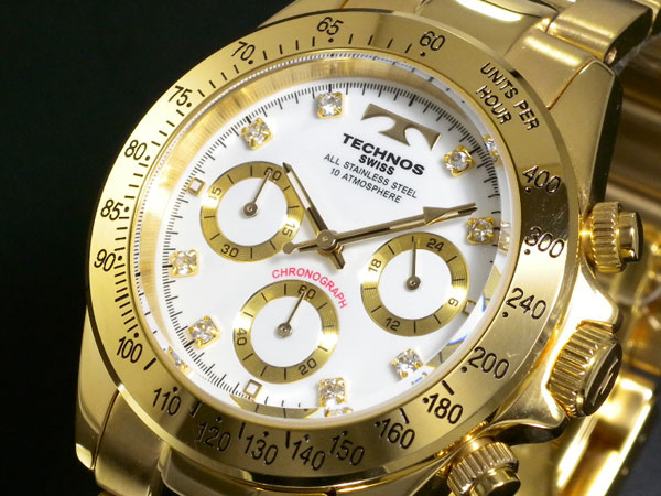 Technos TECHNOS Chronograph Watch TGM639GW direct