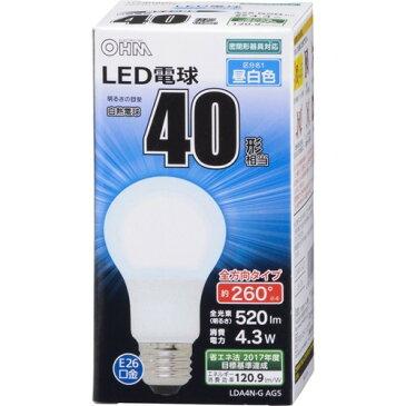 10000円以上送料無料 LED電球 一般電球形 40形相当 E26 昼白色 06-1734 LDA4N-GAG5(1コ入) 家電 電球・蛍光灯 LED電球 レビュー投稿で次回使える2000円クーポン全員にプレゼント