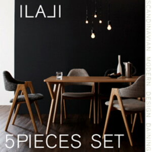 北欧モダンデザインダイニング ILALI イラーリ 5点セット(テーブル+チェア4脚) W140