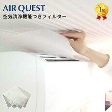 【新商品】エアークエストEX38AQ2-01-0238cm×80cm2枚入り家庭用エアコン用フィルターエアコンフィルター