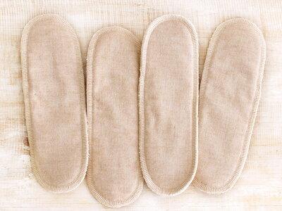 ☆オーガニックコットン100%の布ナプキン用パッドです☆布ナプキン用パッド4枚セット【起毛/...