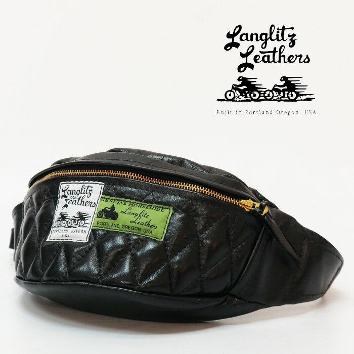メンズバッグ, ボディバッグ・ウエストポーチ  Langlitz Leathers Horse Hide Padded inside Pocket Waist Bag