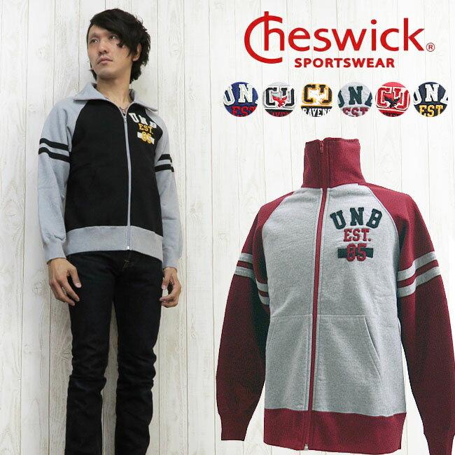 CHESWICK チェスウィック カレッジワッペン ジップアップスウェット CH64605