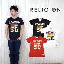 レリジョン RELIGION 半袖 Tシャツ ユーズド加工 プリント 「HAWAII50」