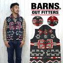 バーンズ BARNS セーター ニットベスト ハンド 手編み BR-4990