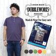 ダブルワークス DUBBLE WORKS Tシャツ 半袖 ヘンリーネック 33008 無地Tee 【メール便OK】