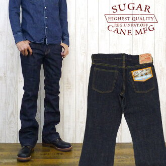 Sugar cane SUGAR CANE jeans SC40321 70's boot cut one wash (denim blue jeans G bread)