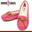 ミネトンカ MINNETONKA 靴 モカシン キャリー スリッパ スウェード スエード ファー ボア レザー ぺたんこ靴 CALLY SLIPPER 4017 PINK ピンク