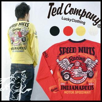 테드만 드 맨 즈 TEDMAN 'S 발 염 프린트 긴 소매 티셔츠 「 SPEED NUTS 」