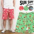 サンサーフ SUN SURF ショーツ ハーフパンツ ショートパンツ PAINEPPLE ISLAND プリント Masked Marvel SS51550