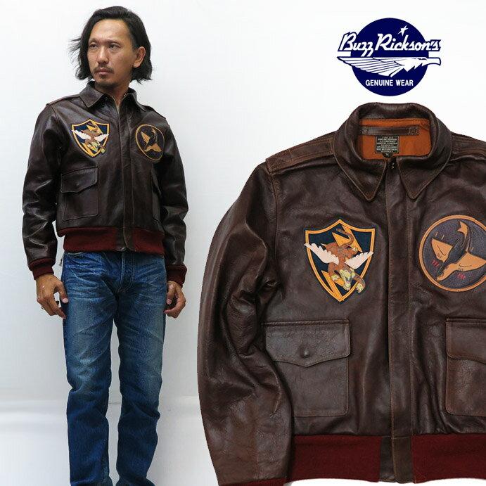 メンズファッション, コート・ジャケット  Buzz Ricksons A-2 75th FTR.SQ.FLYING SHARK PATCH BR80543