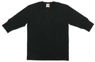 GLADHANDグラッドハンド5分袖ヘンリーネックポケットTシャツ無地スタンダードパックシリーズ【2020年春夏新作】