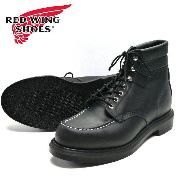 ブーツ, ワーク REDWING 6 MOC TOE SUPER SOLE BLACK CHROME Style No.8133