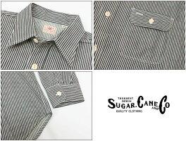 シュガーケーン SUGAR CANE 長袖 ヒッコリー ストライプ ワークシャツ SC27853 【2021年 春夏 新作】