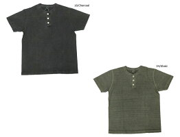 BARNSバーンズTシャツS/S無地半袖VINTAGEビンテージクルーネック丸首ユニオンスペシャルピグメント染めBR-8146PG