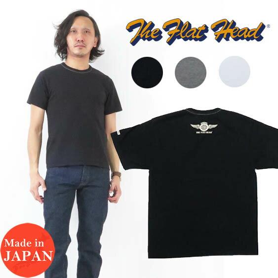 トップス, Tシャツ・カットソー  THE FLAT HEAD T SMALL FLYING WHEEL THC FN-THC-003 2021