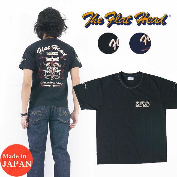 トップス, Tシャツ・カットソー  THE FLAT HEAD T BIKERSVINTAGE THC FN-THC-015 2021
