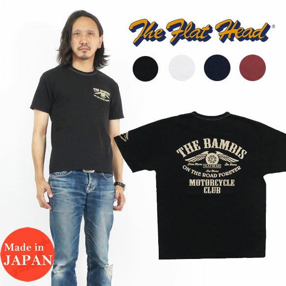トップス, Tシャツ・カットソー  THE FLAT HEAD T BAMBIS THC FN-THC-022 2021