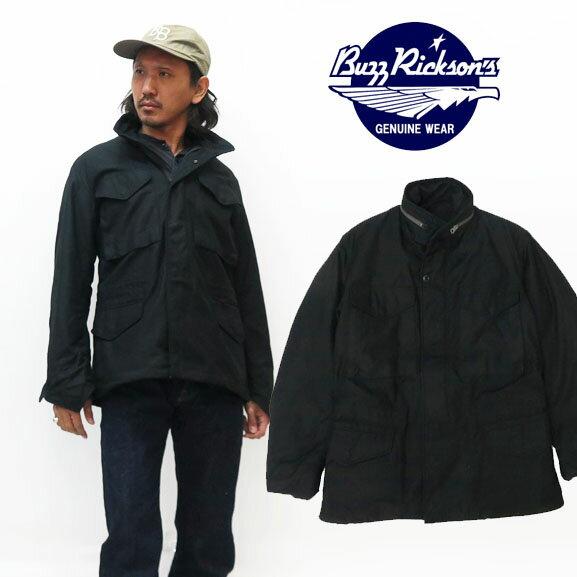 メンズファッション, コート・ジャケット  Buzz Ricksons WILLIAM GIBSON BLACK M-65 with LINER BR14423