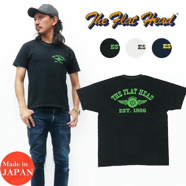 トップス, Tシャツ・カットソー  THE FLAT HEAD T FLYING WHEEL THC FN-THC-002B