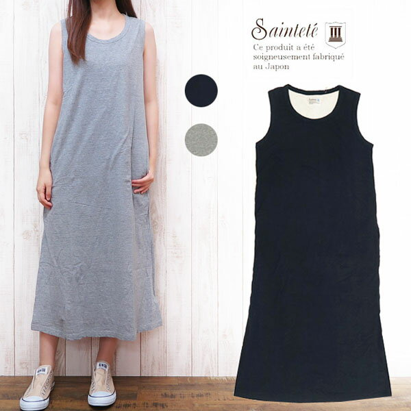 レディースファッション, ワンピース Saintete T NO SLEEVE ONE-PIECE MADE IN JAPAN MRS103