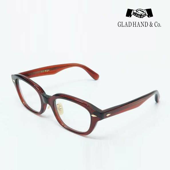 GLAD HAND 丹羽雅彦 サングラス <フレーム:ブラウン> <パーツ:ゴールド> セルロイド 眼鏡 J-IMMY GLASSES ORNAMENT グラッドハンド にわまさひこ 鯖江 眼鏡 ジミー オーナメント